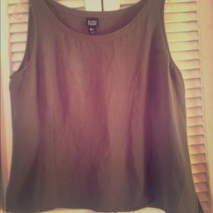 Eileen Fisher Silk flowing tank top size Large